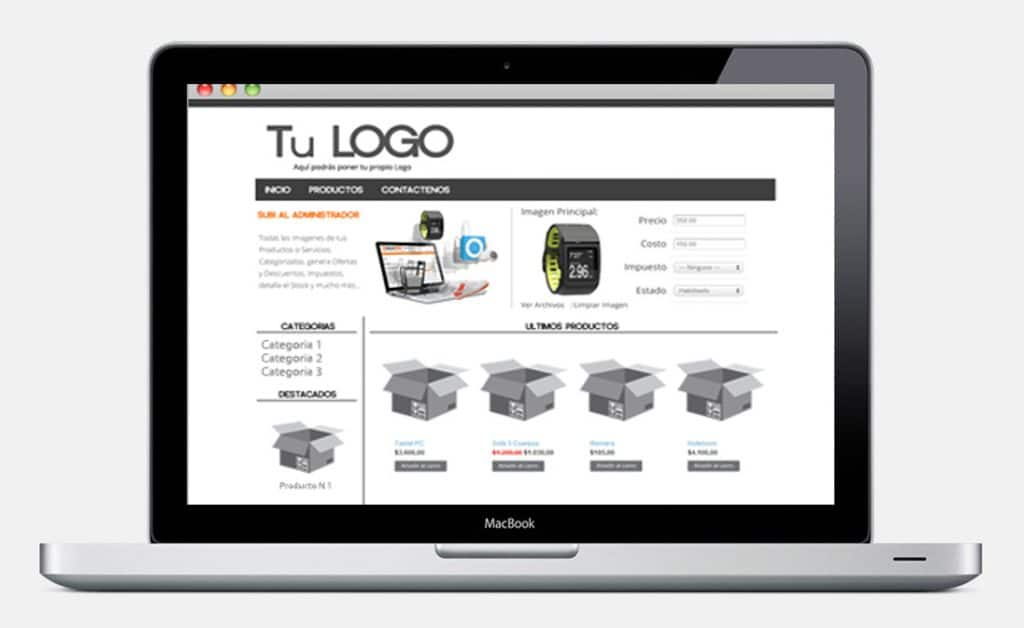 Tipos de páginas web para tu negocio - Tienda Online para vender tus productos desde tu página web