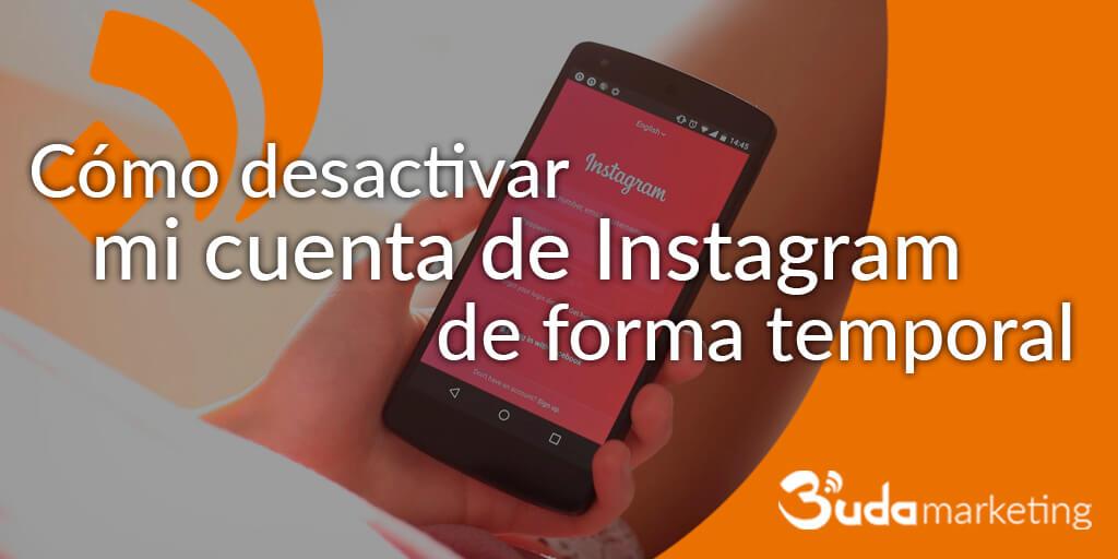 desactivar una cuenta de instagram temporalmente