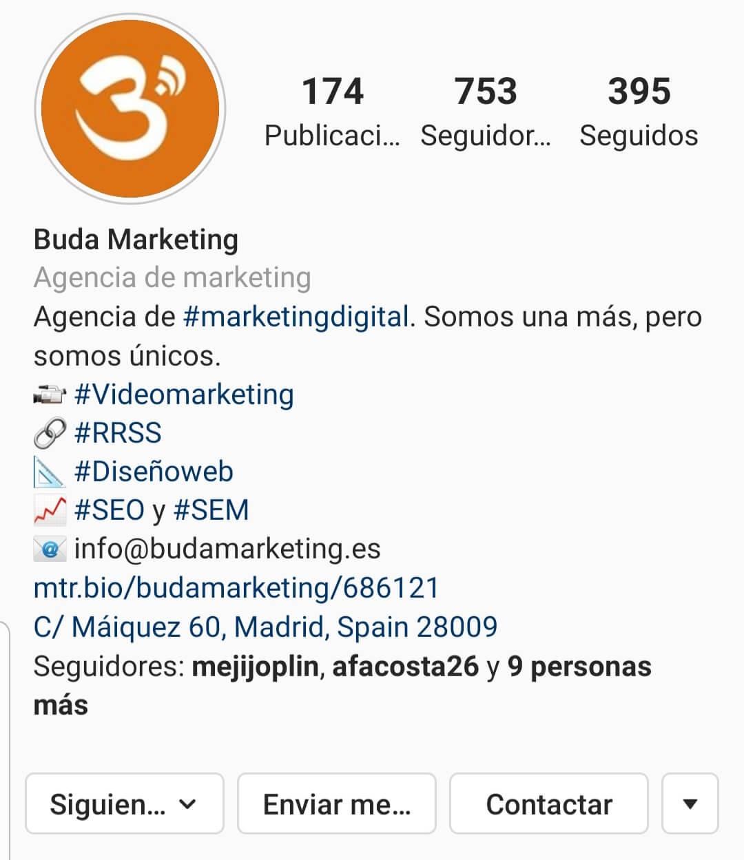 estrategias mejorar el perfil de instagram