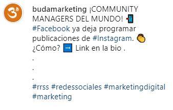 trucos instagram hashtags