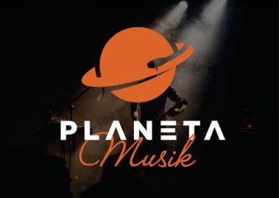 Diseño de logotipo para web de música